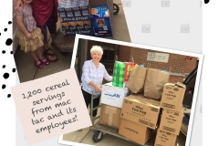 Food drives from LulaRue and MacTac