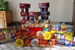 Cereal and pudding cups collected by Simply Swank Salon and Spa